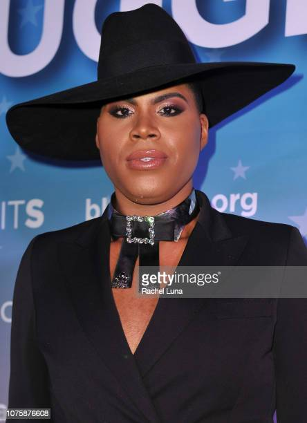 Ej Johnson attends the Black AIDS Institute's 2018 Heroes in The Struggle Gala at California African American Museum on December 01 2018 in Los...