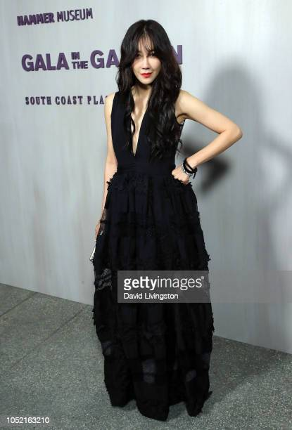 Jiah attends the 2018 Hammer Museum Gala In The Garden on October 14 2018 in Los Angeles California