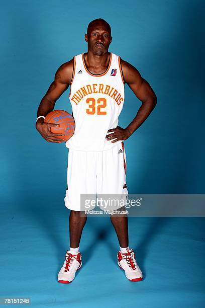 Ejike Ugboaja of the Albuquerque Thunderbirds poses for a portrait during DLeague media day on November 13 2007 at the Open Court in Lehi Utah NOTE...