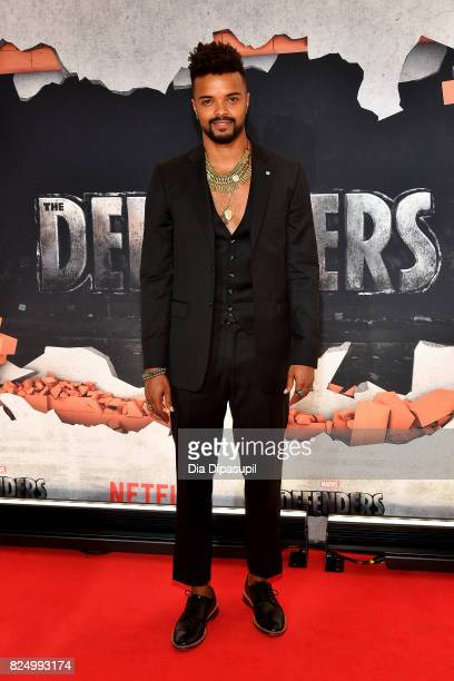 Eka Darville attends the Marvel's The Defenders New York Premiere at Tribeca Performing Arts Center on July 31 2017 in New York City