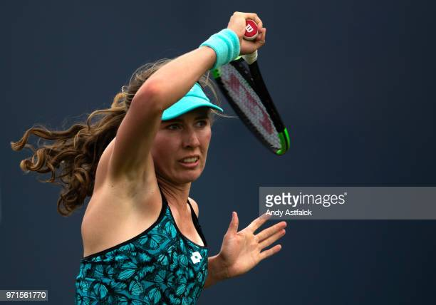 Ekaterina Alexandrova of Russia in action during Day One of the Libema Open 2018 on June 11 2018 in Rosmalen Netherlands
