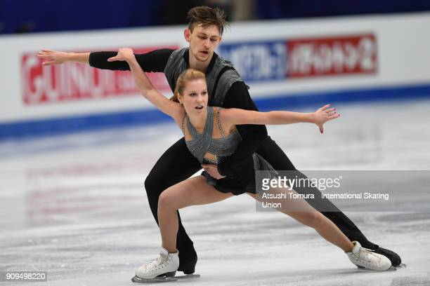 Ekaterina Alexandrovsakaya and Harley Windsor of Australia compete in the pairs short program during the Four Continents Figure Skating Championships...