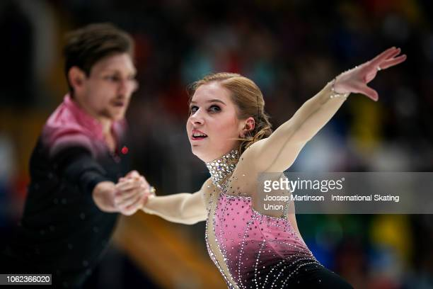 Ekaterina Alexandrovskaya and Harley Windsor of Australia compete in the Pairs Short Program during day 1 of the ISU Grand Prix of Figure Skating...