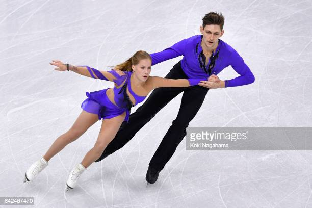 Ekaterina Alexandrovskaya and Harley Windsor of Australia compete in the Pairs Free Skating during ISU Four Continents Figure Skating Championships...