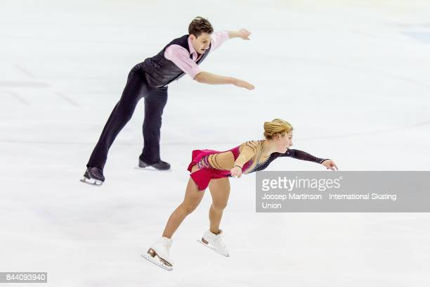 Ekaterina Alexandrovskaya and Harley Windsor of Australia compete in the Junior Pairs Free Skating during day 2 of the Riga Cup ISU Junior Grand Prix...