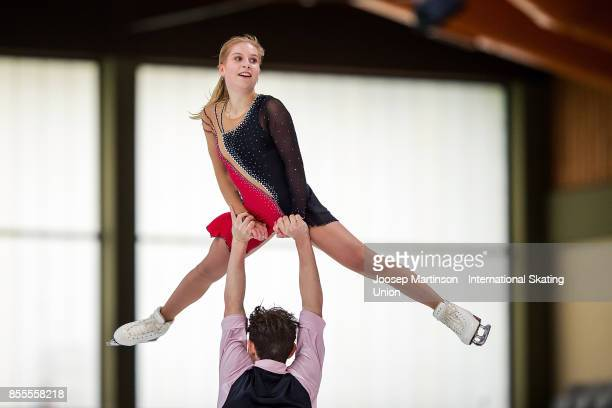 Ekaterina Alexandrovskaya and Harley Windsor of Australia compete in the Pairs Free Skating during the Nebelhorn Trophy 2017 at Eissportzentrum on...
