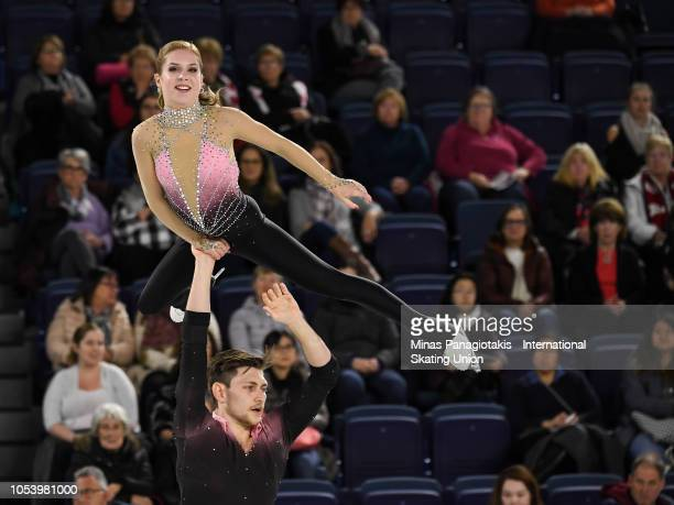 Ekaterina Alexandrovskaya and Harley Windsor of Australia compete on day 1 during the ISU Grand Prix of Figure Skating Skate Canada International at...