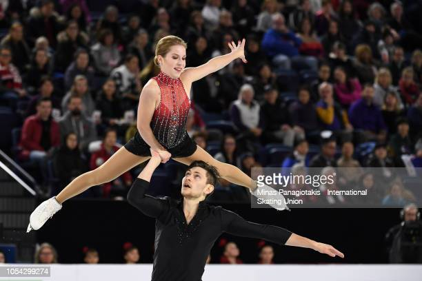 Ekaterina Alexandrovskaya and Harley Windsor of Australia compete on day two during the ISU Grand Prix of Figure Skating Skate Canada International...