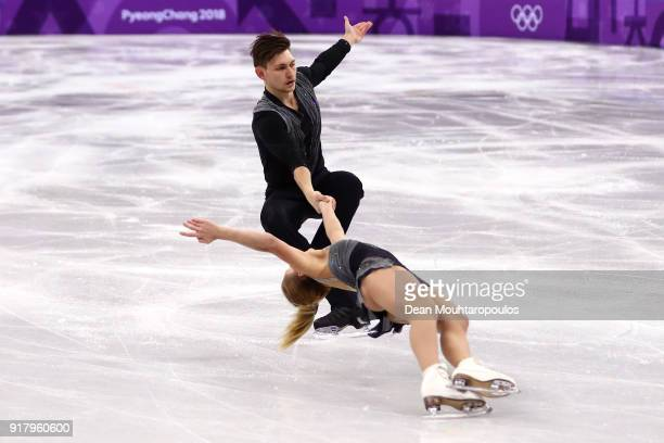 Ekaterina Alexandrovskaya and Harley Windsor of Australia compete during the Pair Skating Short Program on day five of the PyeongChang 2018 Winter...