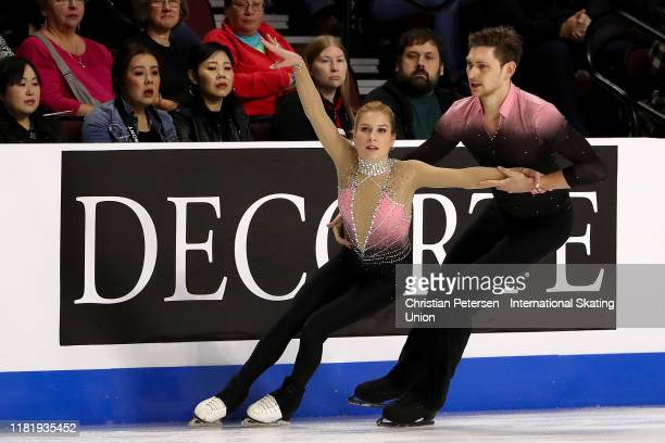 Ekaterina Alexandrovskaya and Harley Windsor of Australia perform during pairs short program in the ISU Grand Prix of Figure Skating Skate America at...