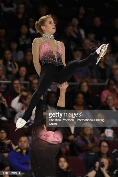 Ekaterina Alexandrovskaya and Harley Windsor of Australia perform during pairs short program in the ISU Grand Prix of Figure Skating Skate America at...