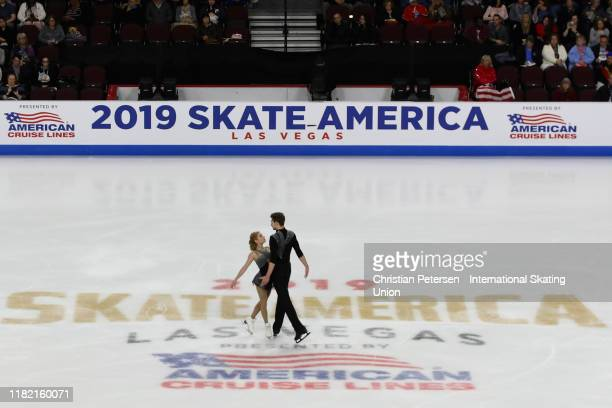 Ekaterina Alexandrovskaya and Harley Windsor of Australia perform during pairs free skating in the ISU Grand Prix of Figure Skating Skate America at...