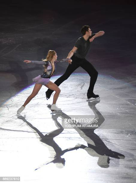 Ekaterina Alexandrovskaya and Harley Windsor of Australia perform during the junior pairs at the gala exhibition in Nagoya on December 10, 2017. /...
