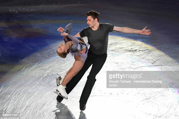 Ekaterina Alexandrovskaya and Harley Windsor of Australia perform their routine in the Gala exhibition during the ISU Junior Senior Grand Prix of...