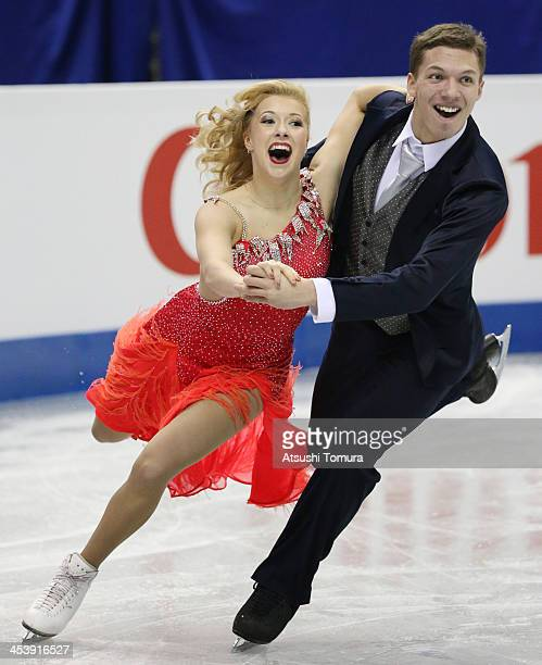 Ekaterina Bobrova and Dimitri Soloviev of Russia compete in the ice dance short dance during day two of the ISU Grand Prix of Figure Skating Final...