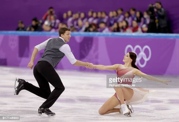 Ekaterina Bobrova and Dmitri Soloviev of Olympic Athlete from Russia compete in the Figure Skating Team Event – Ice Dance Free Dance on day three of...