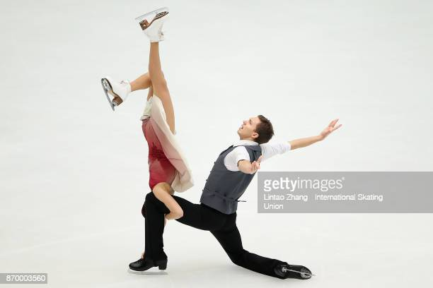 Ekaterina Bobrova and Dmitri Soloviev of Russia compete in the Ice Dance Free Dance on day two of Audi Cup of China ISU Grand Prix of Figure Skating...