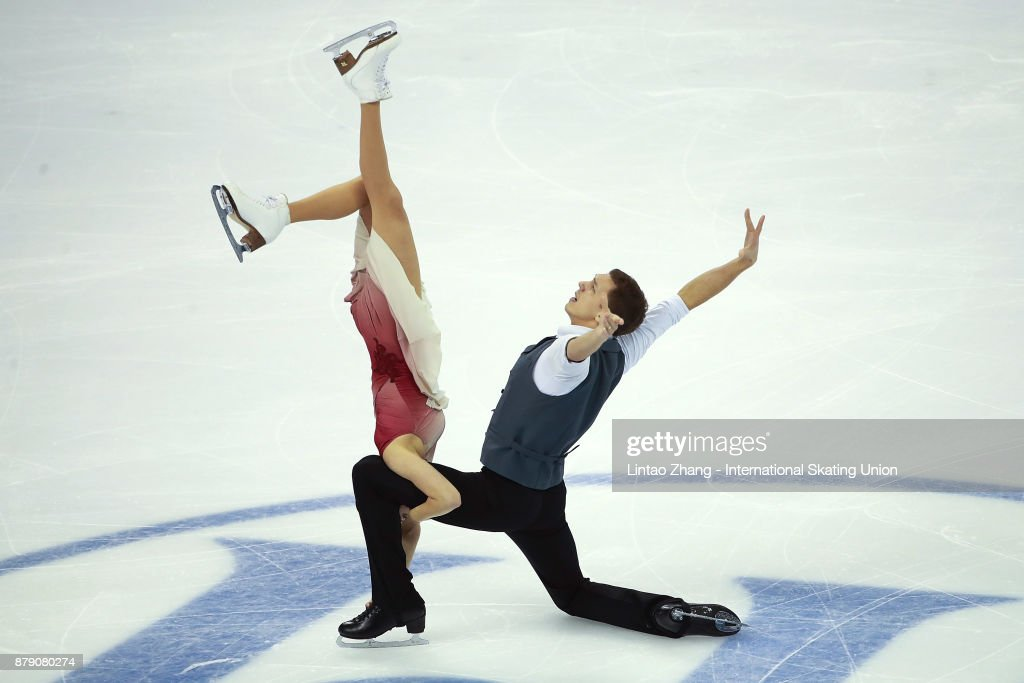Ekaterina Bobrova and Dmitri Soloviev of Russia compete in the Ice Dance Free Dance during the 2017 Shanghai Trophy at the Oriental Sports Center on November 25, 2017 in Shanghai, China.