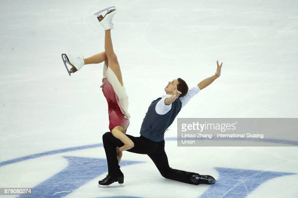 Ekaterina Bobrova and Dmitri Soloviev of Russia compete in the Ice Dance Free Dance during the 2017 Shanghai Trophy at the Oriental Sports Center on...