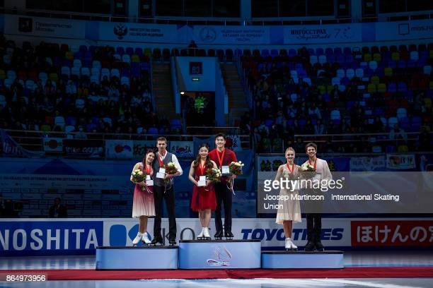 Ekaterina Bobrova and Dmitri Soloviev of Russia Maia Shibutani and Alex Shibutani of the United States Alexandra Stepanova and Ivan Bukin of Russia...