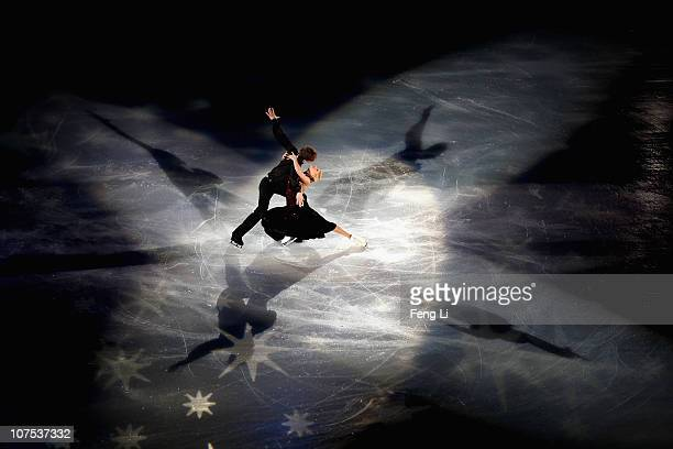 Ekaterina Bobrova and Dmitri Soloviev of Russia perform during ISU Grand Prix and Junior Grand Prix Final at Beijing Capital Gymnasium on December 12...