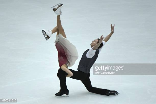 TOPSHOT Ekaterina Bobrova and Dmitri Soloviev of Russia perform during the Ice Dance Free Dance at the Cup of China ISU Grand Prix of Figure Skating...
