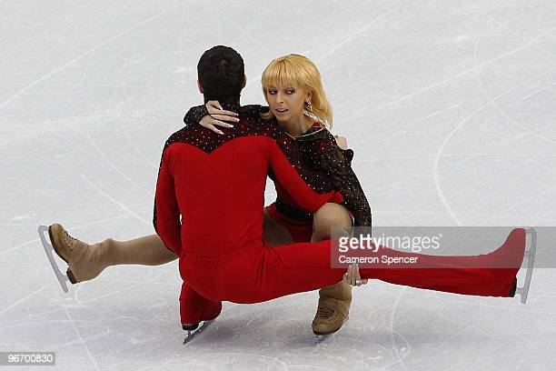 Ekaterina Kostenko and Roman Talan of Ukraine compete in the figure skating pairs short program on day 3 of the Vancouver 2010 Winter Olympics at...