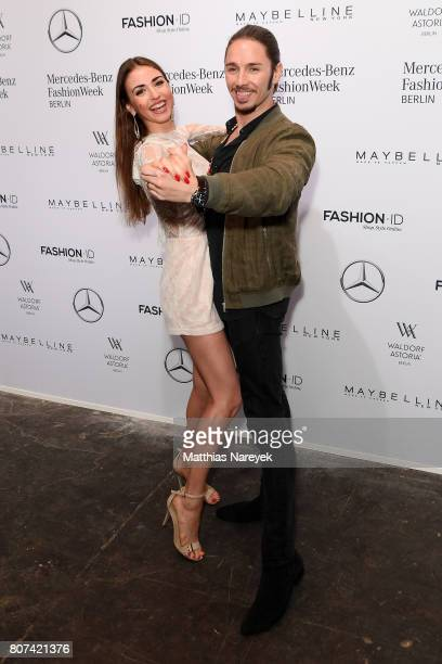 Ekaterina Leonova and Gil Ofarim attend the Ewa Herzog show during the Mercedes-Benz Fashion Week Berlin Spring/Summer 2018 at Kaufhaus Jandorf on...