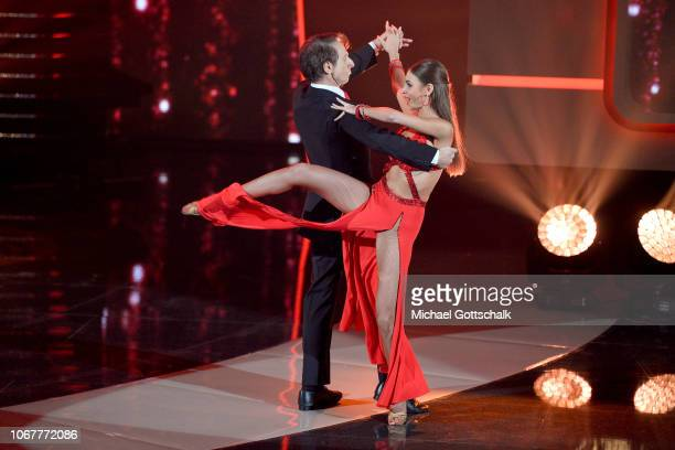 Ekaterina Leonova and Ingolf Lück perform on stage during the tv show '2018 Menschen Bilder Emotionen' on December 3 2017 in Cologne Germany