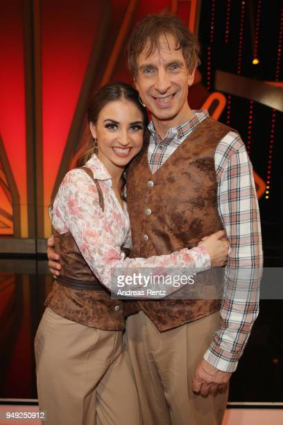 Ekaterina Leonova and Ingolf Lueck smile during the 5th show of the 11th season of the television competition 'Let's Dance' on April 20 2018 in...