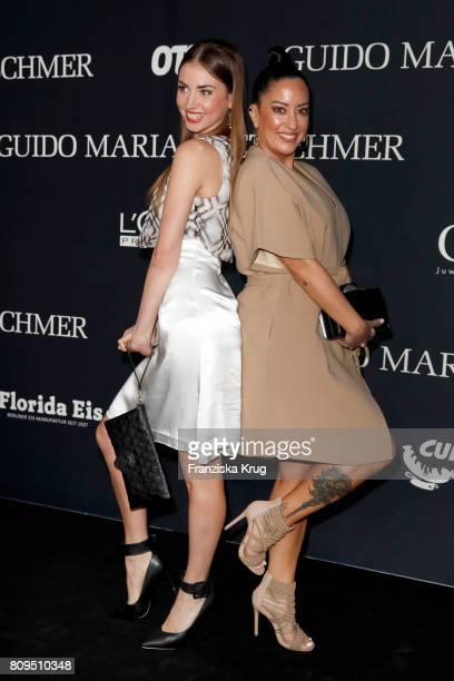 Ekaterina Leonova and Miyabi Kawai attend the Guido Maria Kretschmer Fashion Show Autumn/Winter 2017 presented by OTTO at Tempodrom on July 5 2017 in...