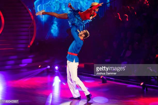 Ekaterina Leonova and Pascal Hens perform on stage during the 8th show of the 12th season of the television competition Let's Dance on May 17 2019 in...