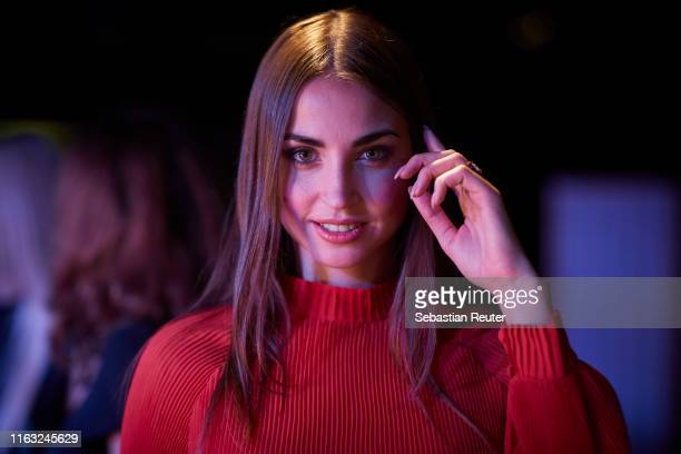 Ekaterina Leonova is seen backstage ahead of the Unique Fashion Show SpringSummer 2020 at Oceandiva on July 20 2019 in Dusseldorf Germany