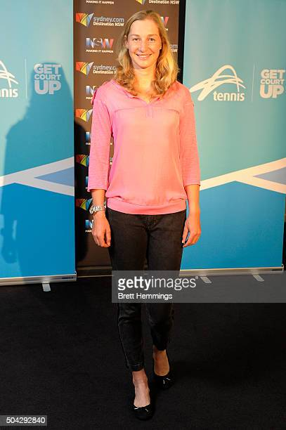 Ekaterina Makarova of Russia poses for a photo at the Players Party during day one of the 2016 Sydney International at Sydney Olympic Park Tennis...