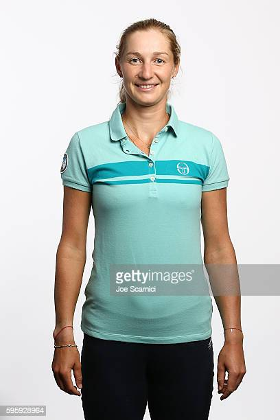 Ekaterina Makarova of Russia poses for a WTA Portrait at Arthur Ashe Stadium on August 26 2016 in New York City