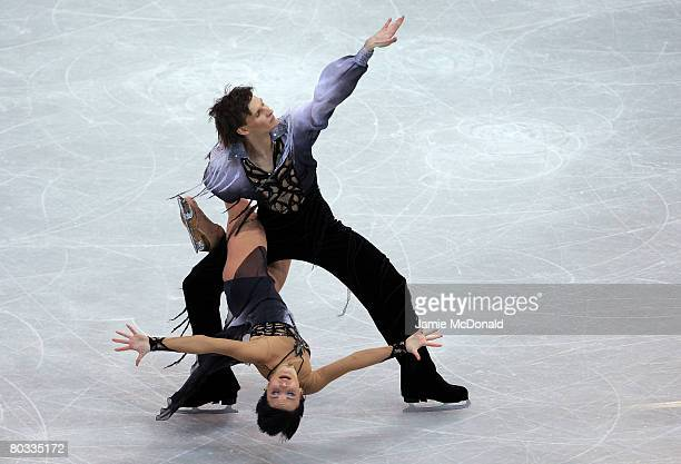 Ekaterina Rubleva and Ivan Shefer of Russia perform their Free Dance during the ISU World Figure Skating Championships at the Scandinavium Arena on...