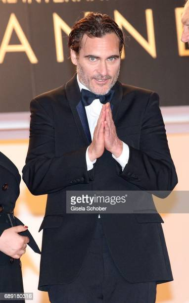 Ekaterina Samsonov director Lynne Ramsay Joaquin Phoenix John Doman attend the 'You Were Never Really Here' screening during the 70th annual Cannes...