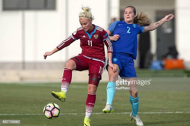 Ekaterina Sochneva Desiree Van Lunteren during the preseason friendly match between national women's Russia vs The Netherlands in Pinatar Arena San...