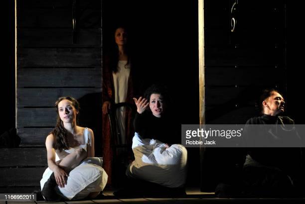 Ekaterina Tarasova as Irina Ekaterina Kleopina as Natasha Ksenia Rappoport as Masha and Irina Tychinina as Olga in The Maly Drama Theatre of St...