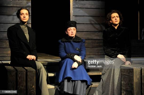 Ekaterina Tarasova as Irina Irina Tychinina as Olga and Ksenia Rappoport as Masha in The Maly Drama Theatre of St Petersburg's production of Anton...
