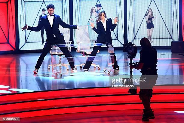 Ekaterina Vaganova and Michele Marrone perform during the 'Ballando Con Le Stelle' Tv Show at Auditorium RAI on April 23 2016 in Rome Italy