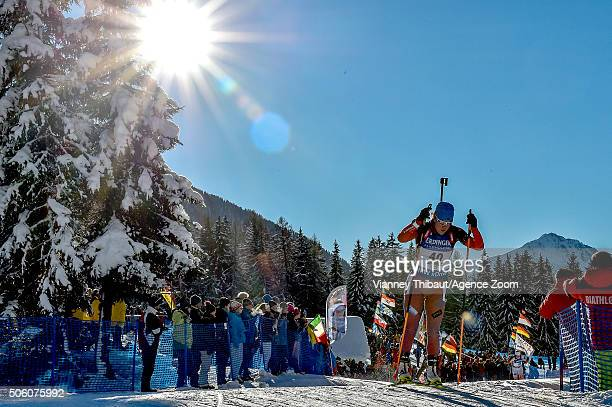 Ekaterina Yurlova of Russia takes 3rd place during the IBU Biathlon World Cup Women's Sprint on January 21 2016 in AntholzAnterselva Italy