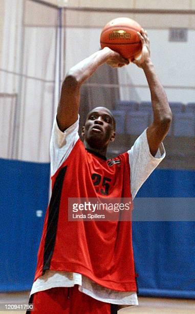 Ekene Ibekwe of Carson HS in Carson, CA during The 2003 Jordan Capital Classic National Basketball Game Practice at Bender Arena in Washington D.C.,...