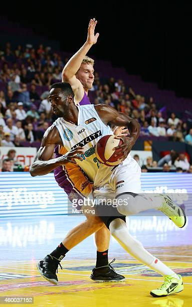 Ekene Ibekwe of the Breakers drives to the basket during the round nine NBL match between the Sydney Kings and the New Zealand Breakers at Qantas...