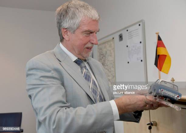 Ekhard Zinke President of the Federal Office of Motor Vehicles stands in his office in Flensubrg Germany 8 December 2017 60 years ago on 2 January...