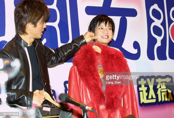 Ekin Cheng Zhao Wei during 'My Dream Girl' Shanghai Press Conference in Shanghai Shanghai China
