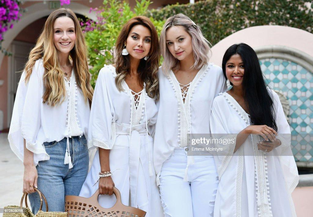 Ekin Nance, Annabelle Fleur, Liz Cherkasova and Sheryl Luke attend Summer '18 Box of Style by Rachel Zoe Soiree at Hotel Bel Air on June 12, 2018 in Los Angeles, California.
