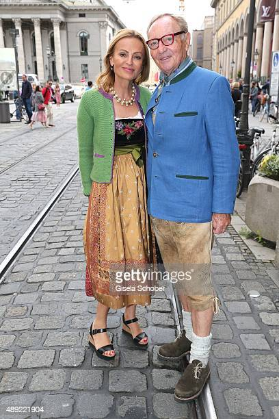 Ekkehard Streletzki and his wife Sigrid Streletzki during the 'Fruehstueck bei Tiffany' at Tiffany Store ahead of the Oktoberfest 2015 on September...