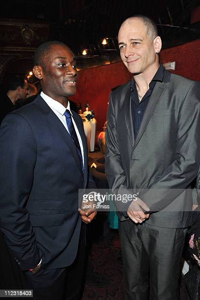 Ekow Eshun and Dinos Chapman attend the ICA fundraising gala at KOKO on March 24 2010 in London England