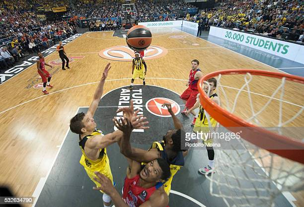 Ekpe Udoh #8 of Fenerbahce Istanbul in action during the Turkish Airlines Euroleague Basketball Final Four Berlin 2016 Championship game between...